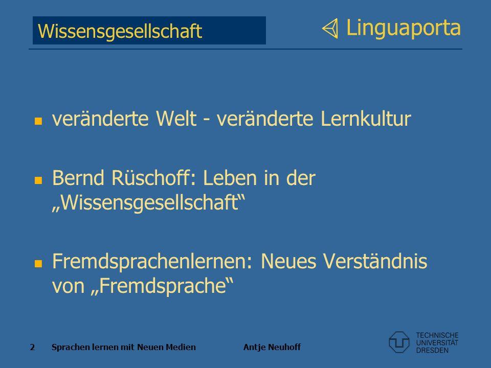 Linguaporta veränderte Welt - veränderte Lernkultur