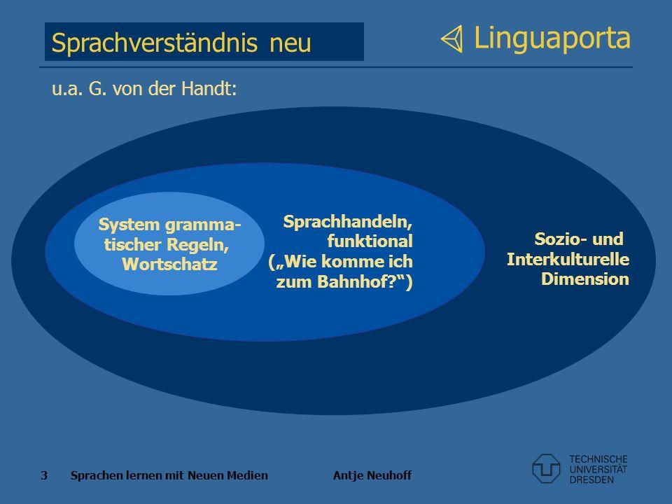 Linguaporta Sprachverständnis neu u.a. G. von der Handt: