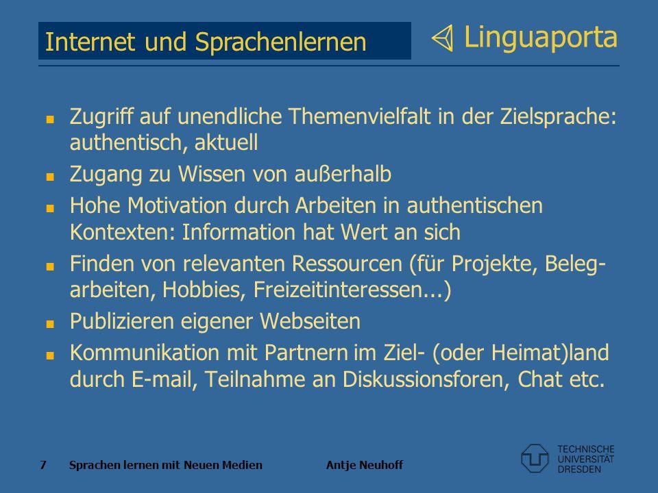 Linguaporta Internet und Sprachenlernen