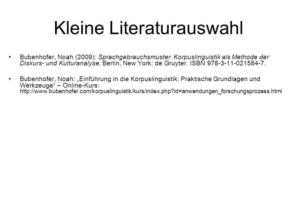Kleine Literaturauswahl