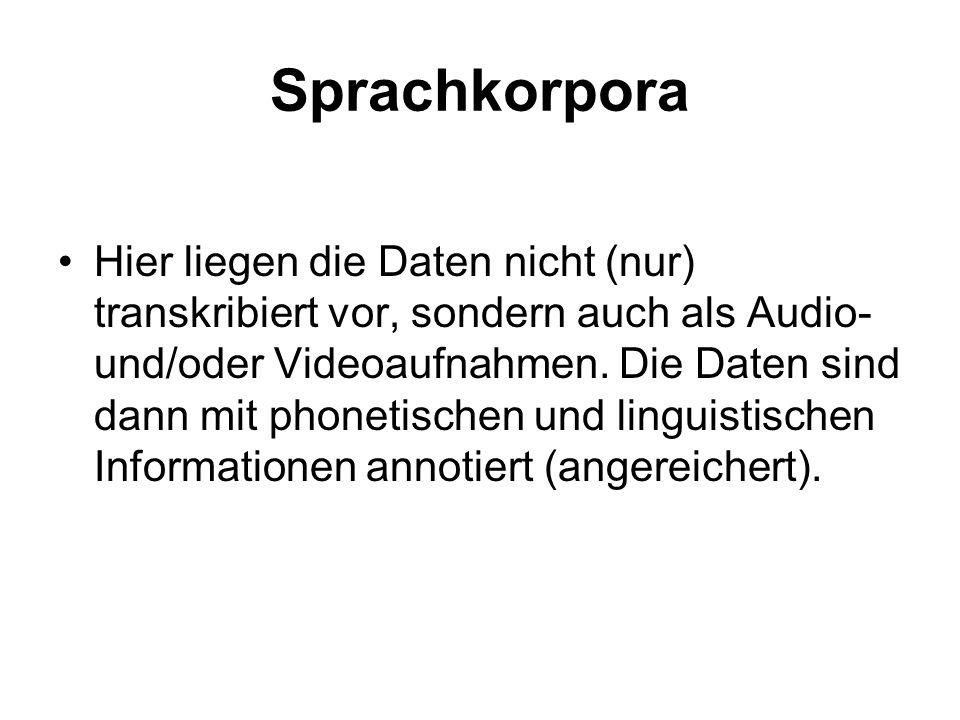 Sprachkorpora