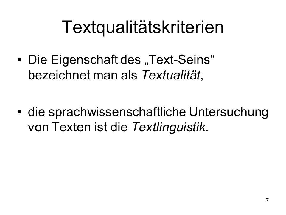Textqualitätskriterien