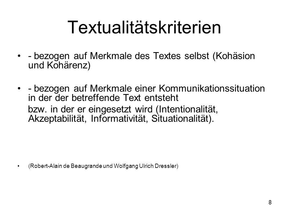 Textualitätskriterien