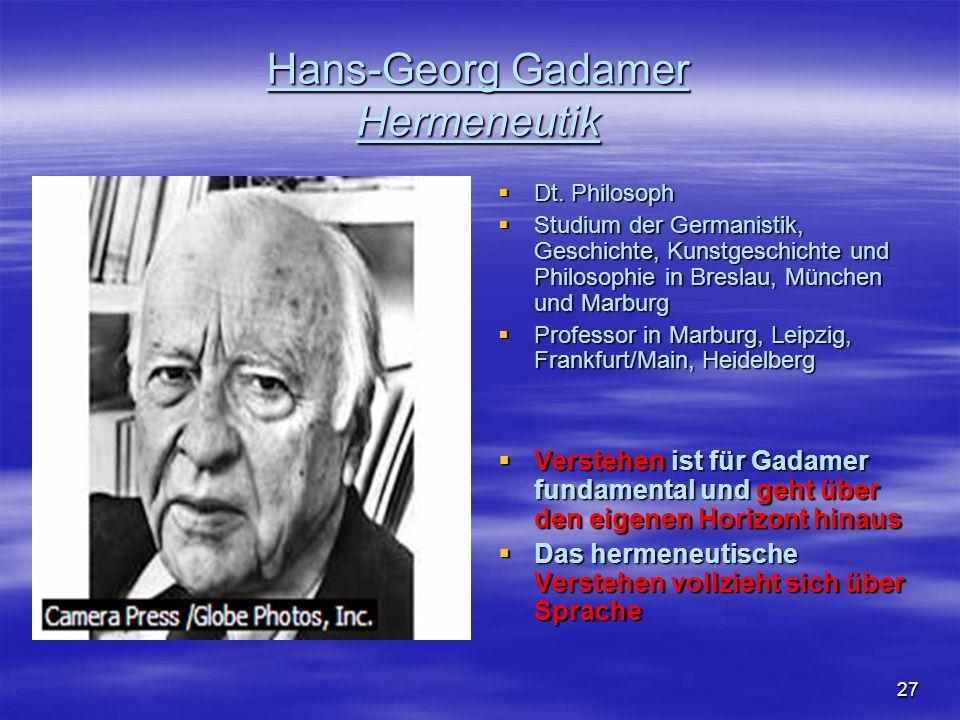 Hans-Georg Gadamer Hermeneutik