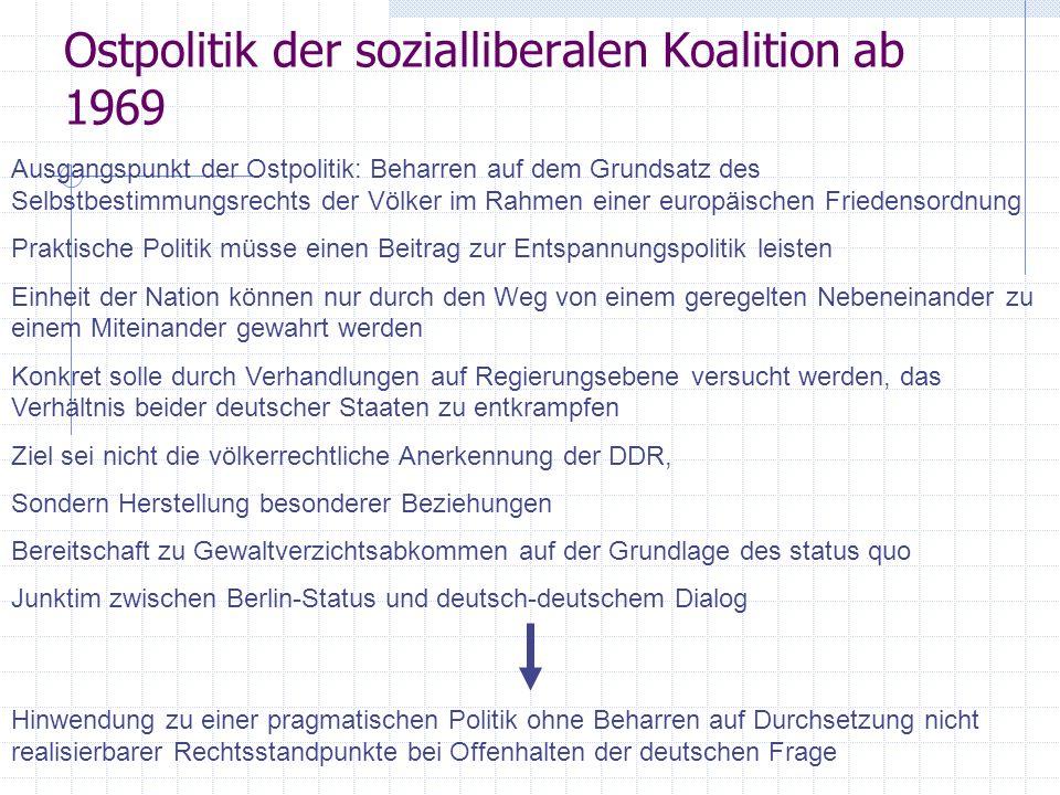 Ostpolitik der sozialliberalen Koalition ab 1969