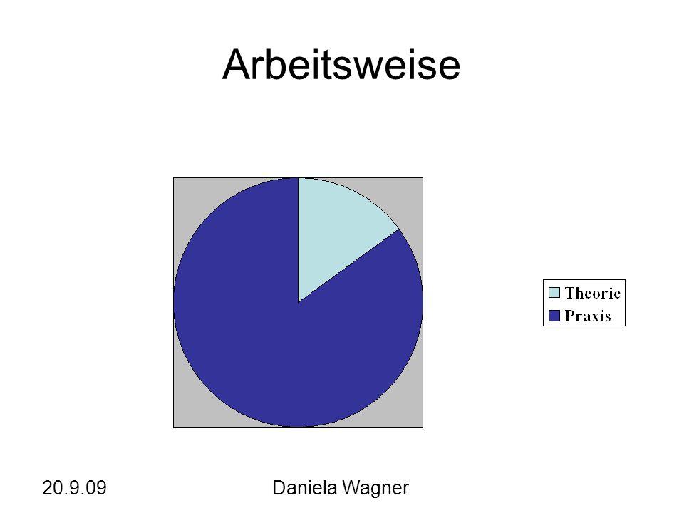Arbeitsweise 20.9.09 Daniela Wagner