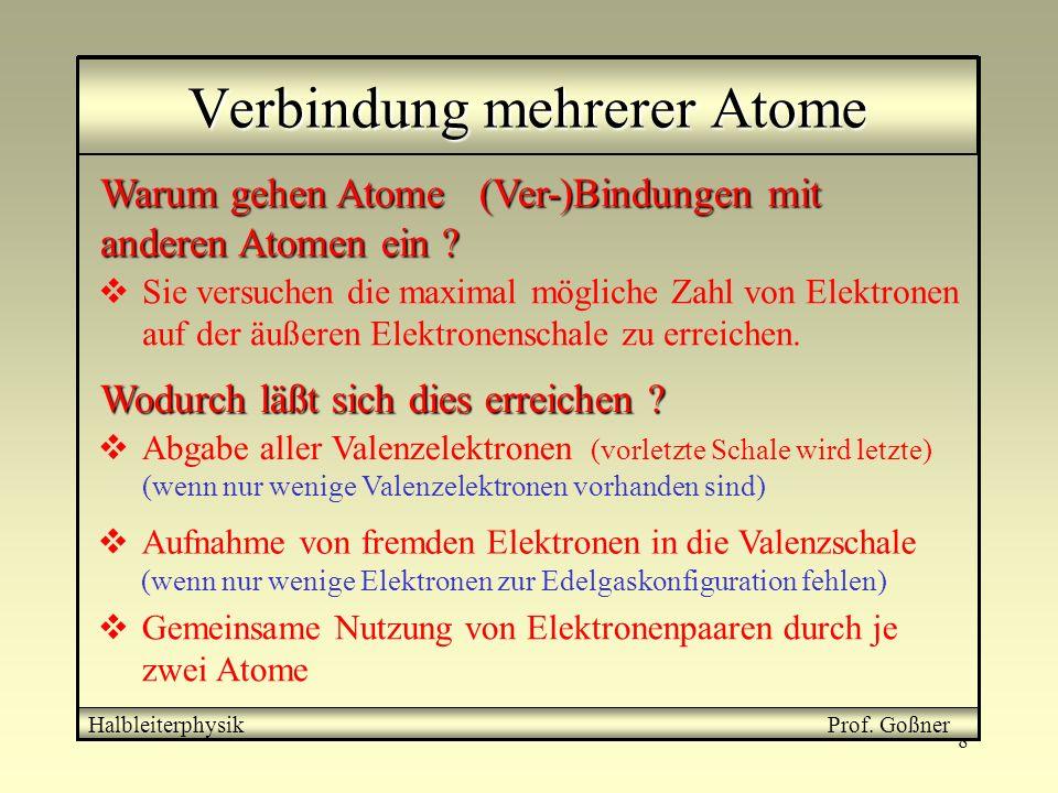Verbindung mehrerer Atome