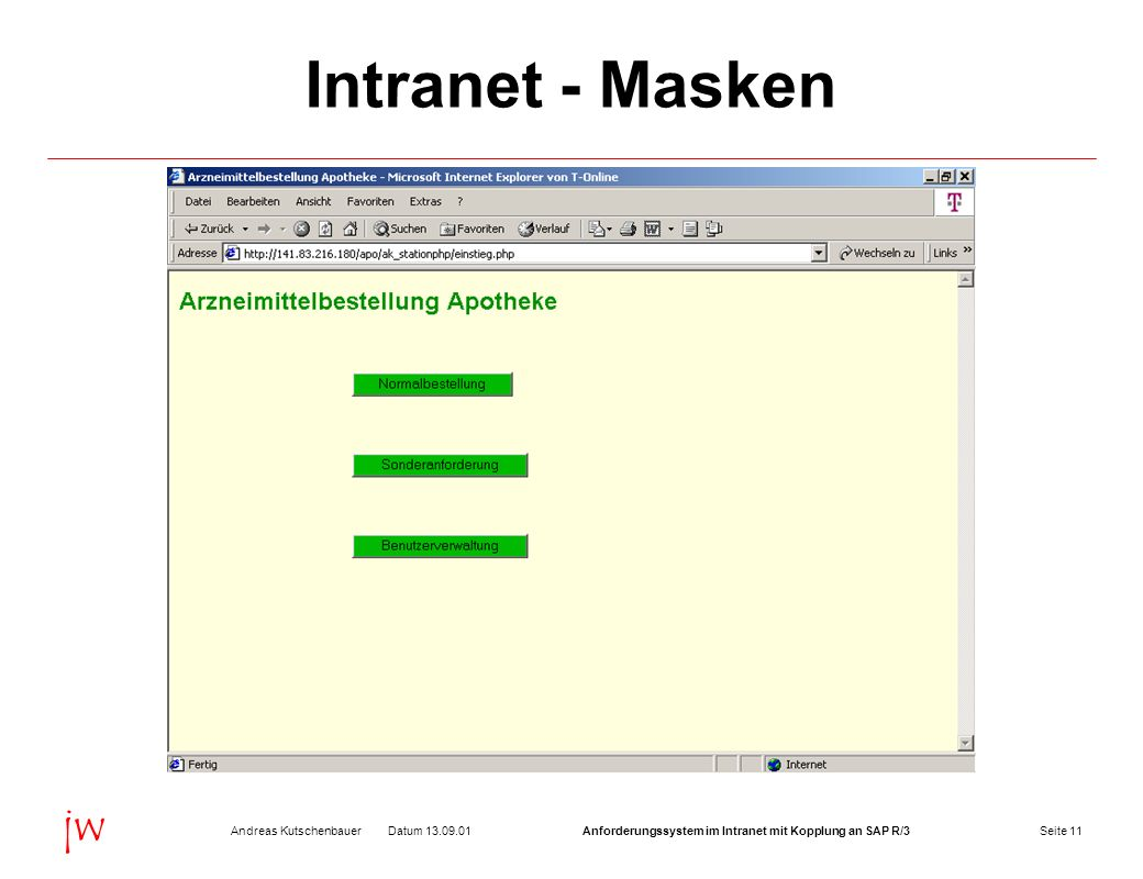 Intranet - Masken