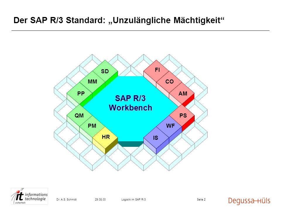"""Der SAP R/3 Standard: """"Unzulängliche Mächtigkeit"""