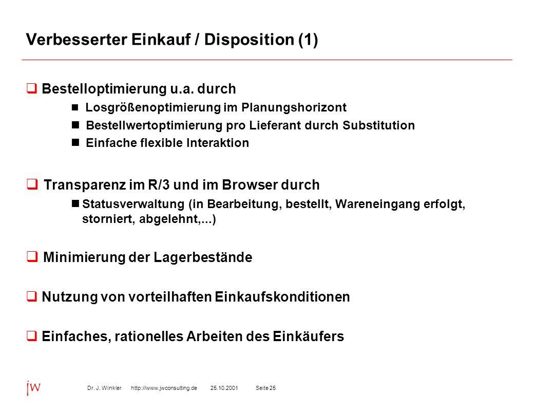 Verbesserter Einkauf / Disposition (1)