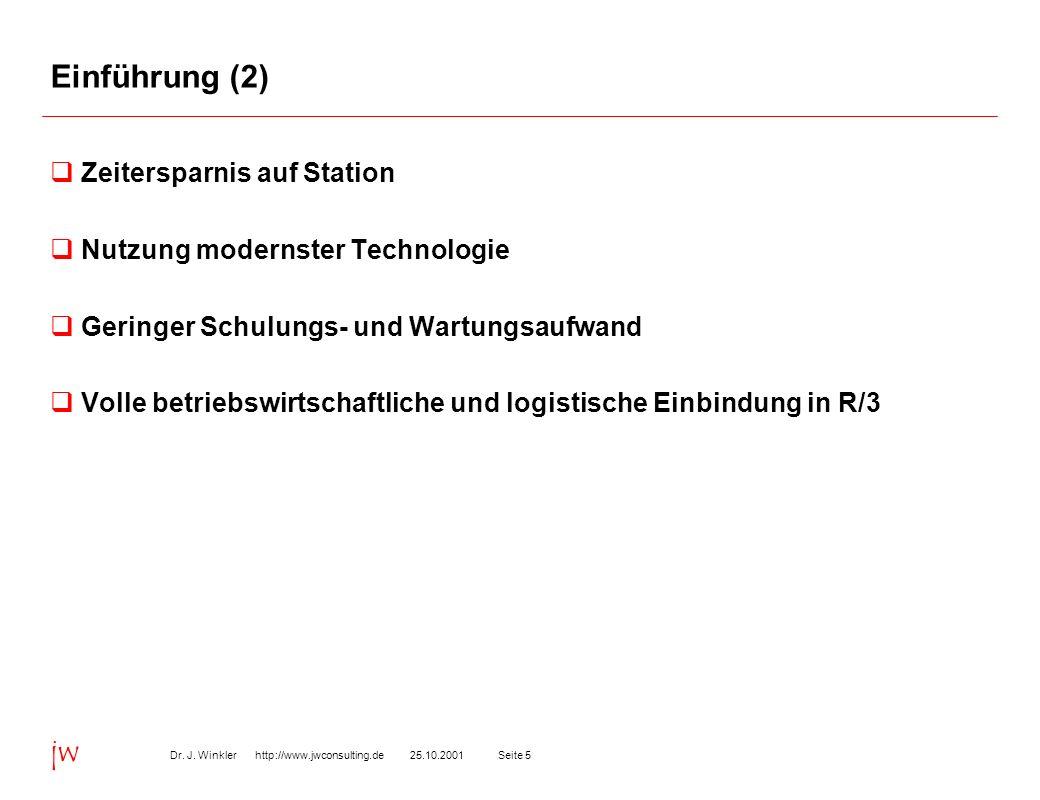Einführung (2) Zeitersparnis auf Station