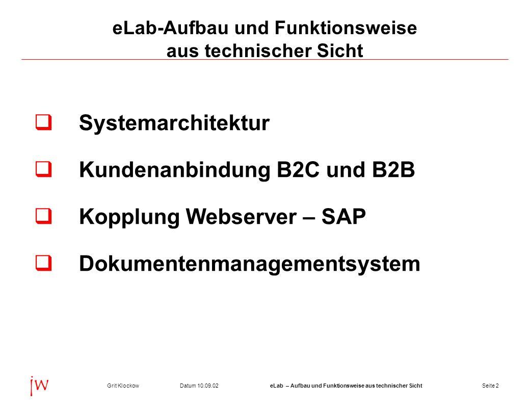 eLab-Aufbau und Funktionsweise aus technischer Sicht