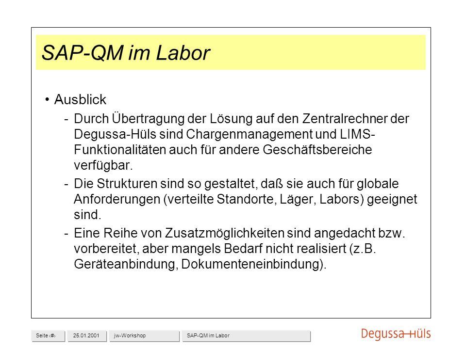 SAP-QM im Labor Ausblick