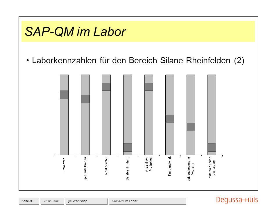 SAP-QM im Labor Laborkennzahlen für den Bereich Silane Rheinfelden (2)