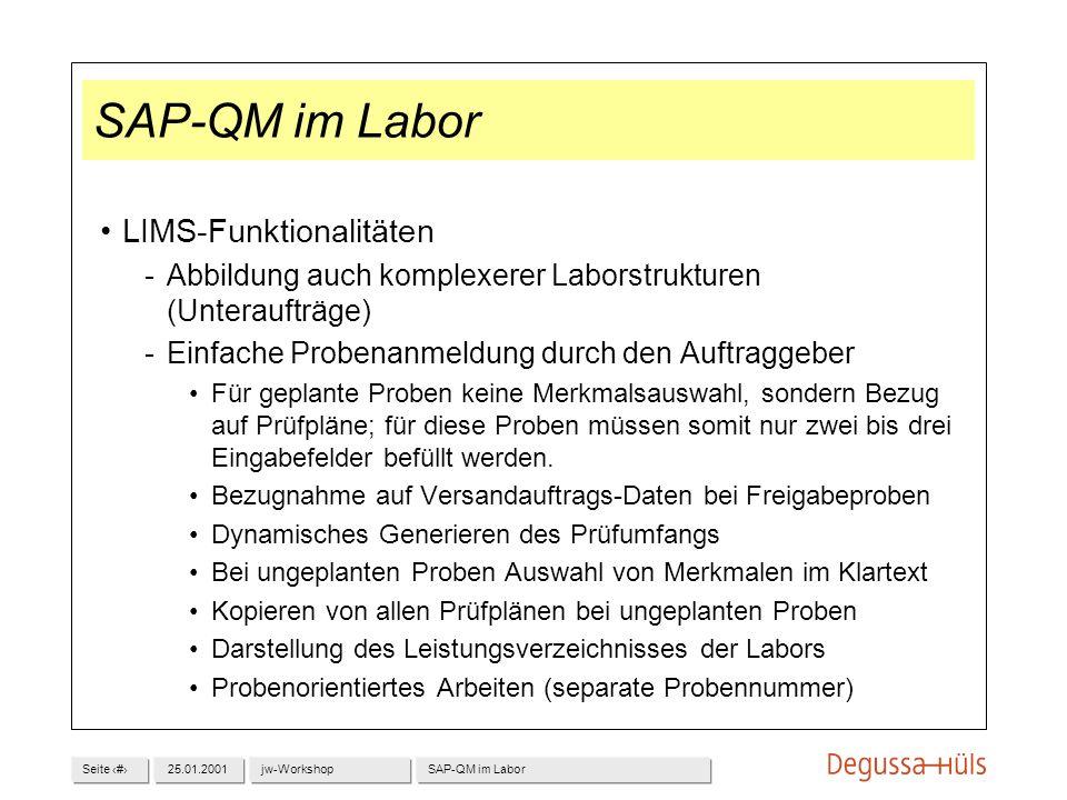 SAP-QM im Labor LIMS-Funktionalitäten