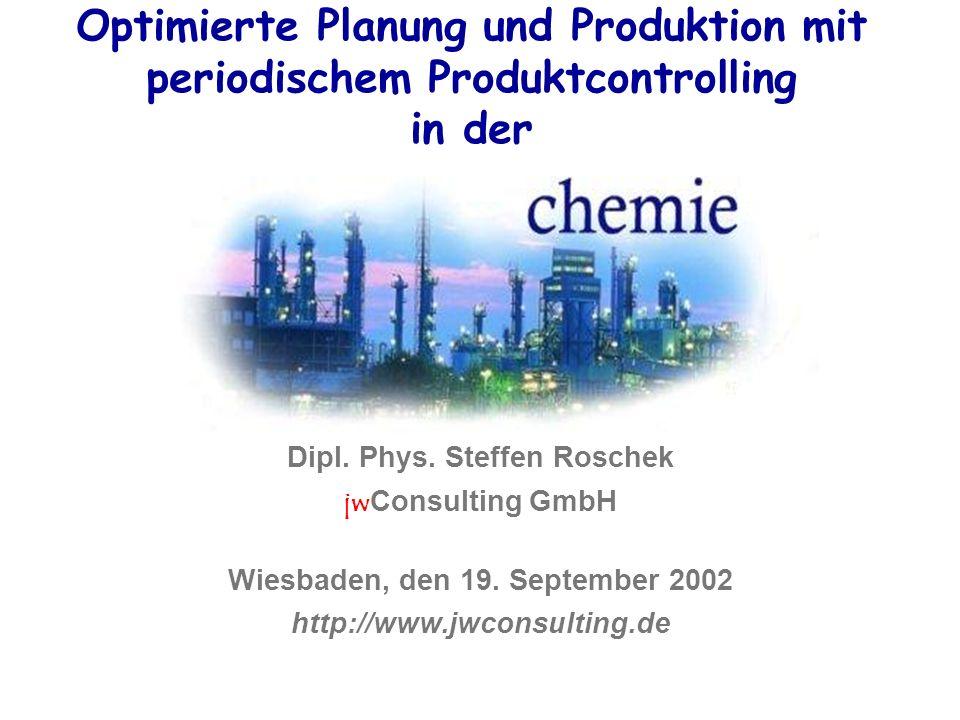 Optimierte Planung und Produktion mit periodischem Produktcontrolling in der