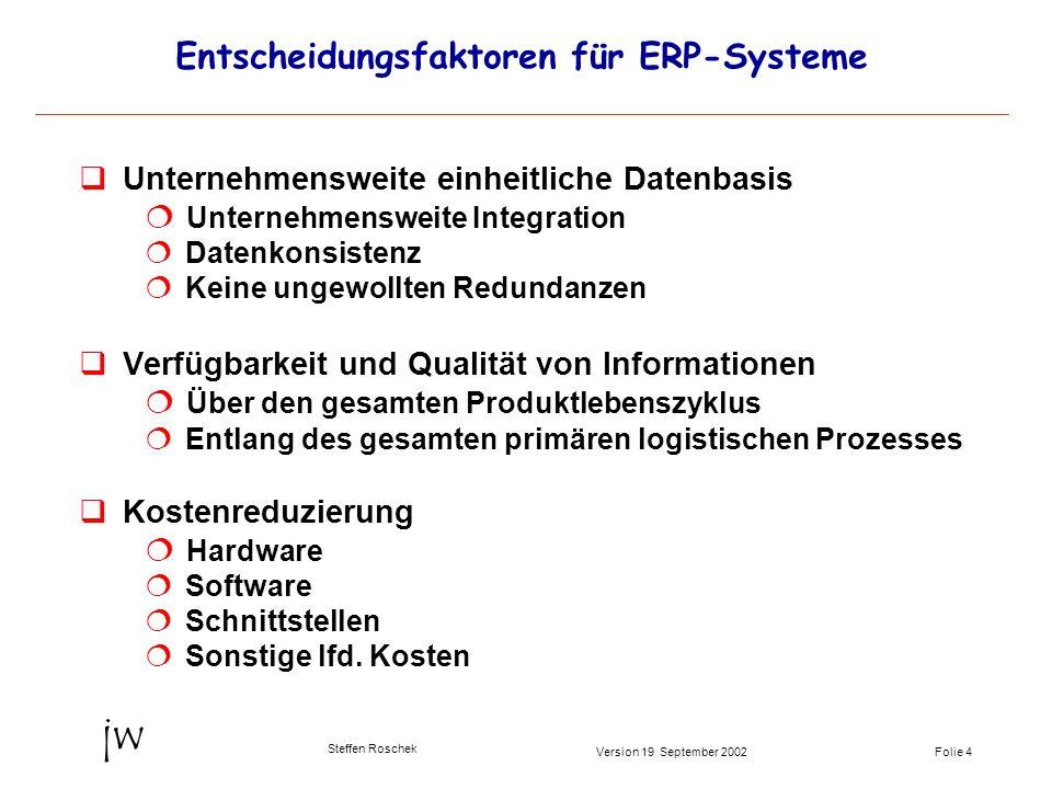 Entscheidungsfaktoren für ERP-Systeme