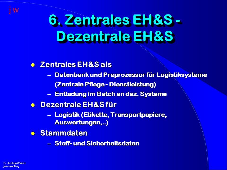 6. Zentrales EH&S - Dezentrale EH&S