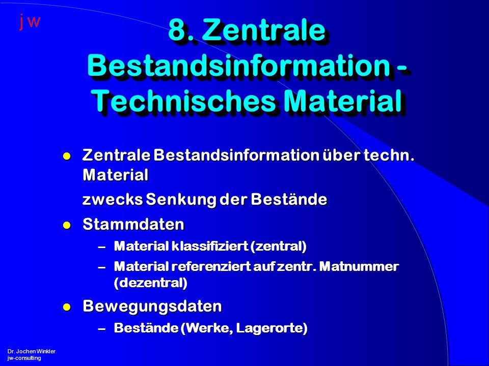 8. Zentrale Bestandsinformation - Technisches Material