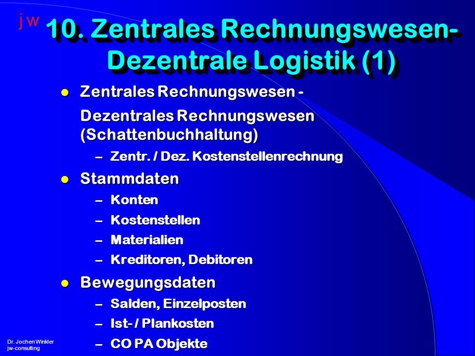 10. Zentrales Rechnungswesen- Dezentrale Logistik (1)