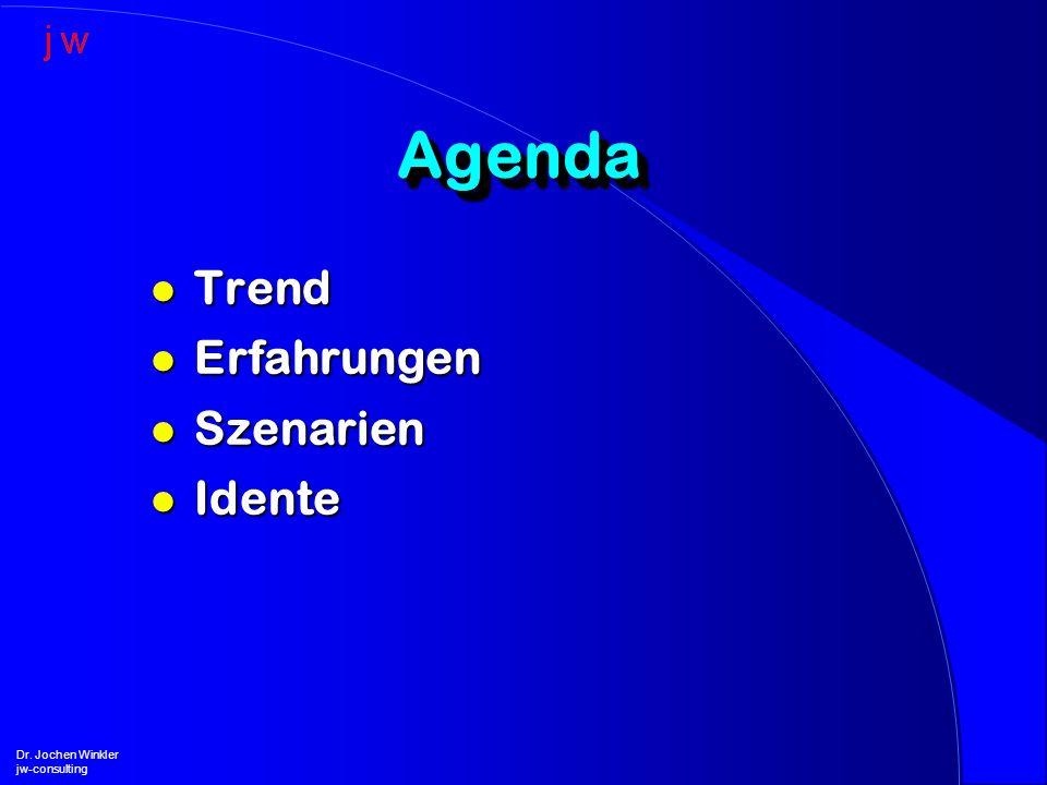 Agenda Trend Erfahrungen Szenarien Idente Dr. Jochen Winkler