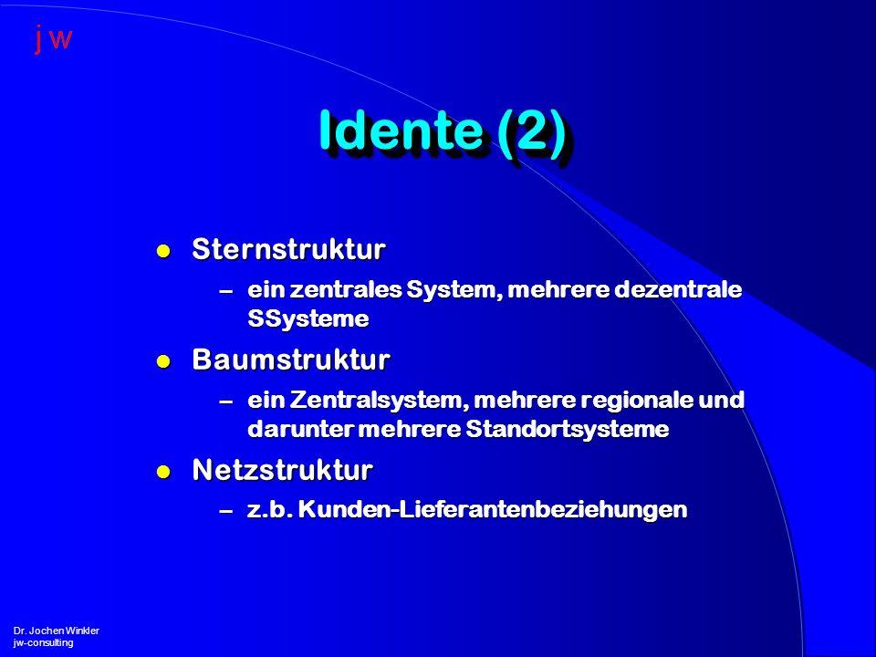 Idente (2) Sternstruktur Baumstruktur Netzstruktur
