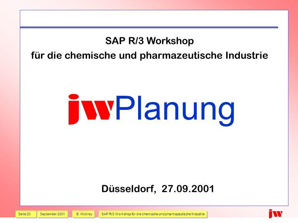 für die chemische und pharmazeutische Industrie