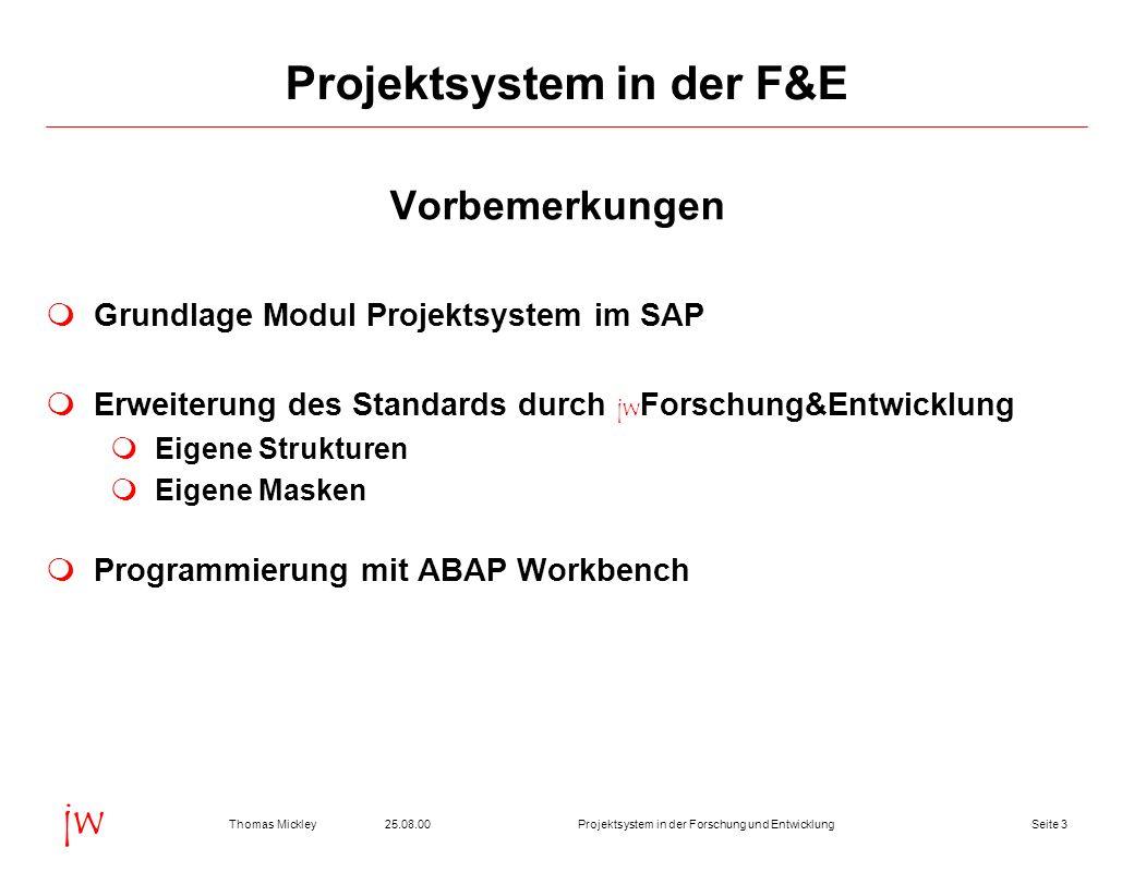 Projektsystem in der F&E