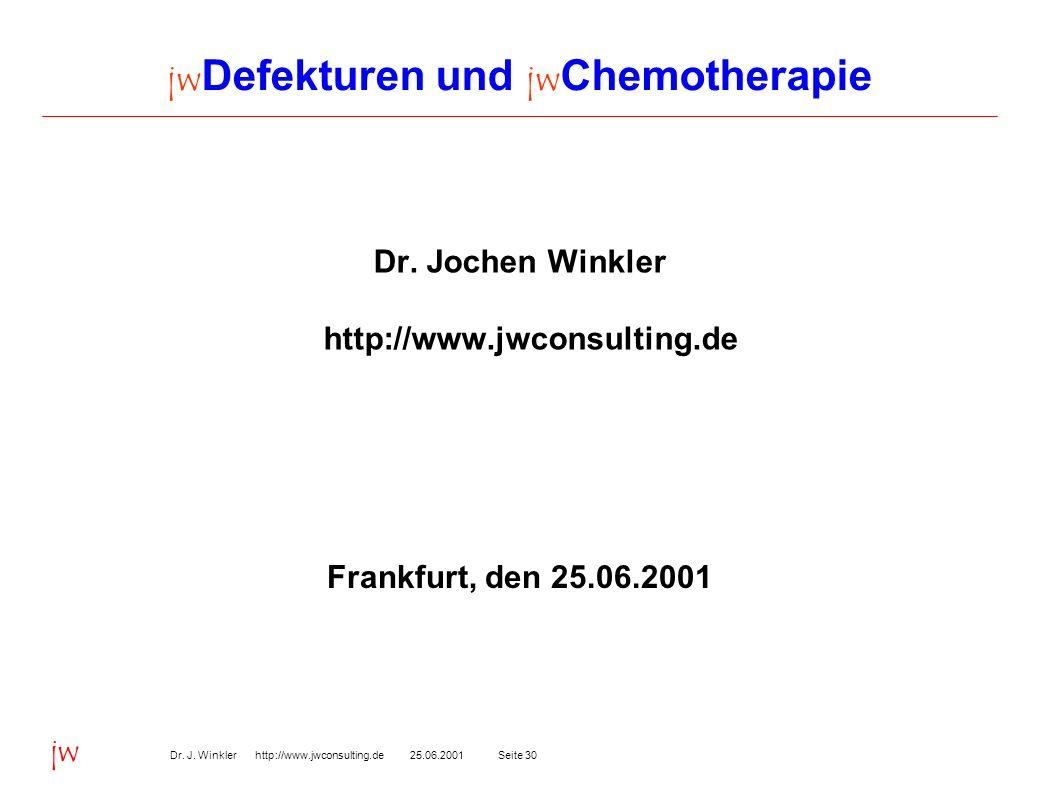 jwDefekturen und jwChemotherapie