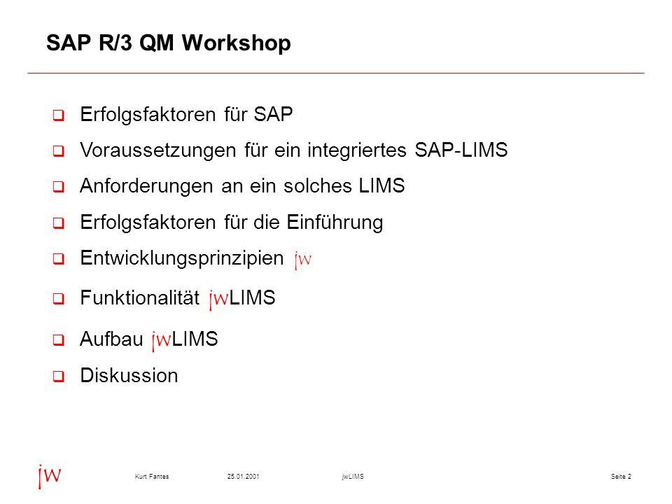 SAP R/3 QM Workshop Erfolgsfaktoren für SAP