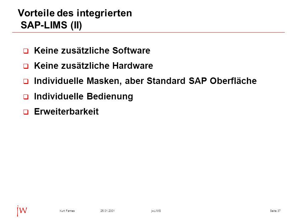 Vorteile des integrierten SAP-LIMS (II)