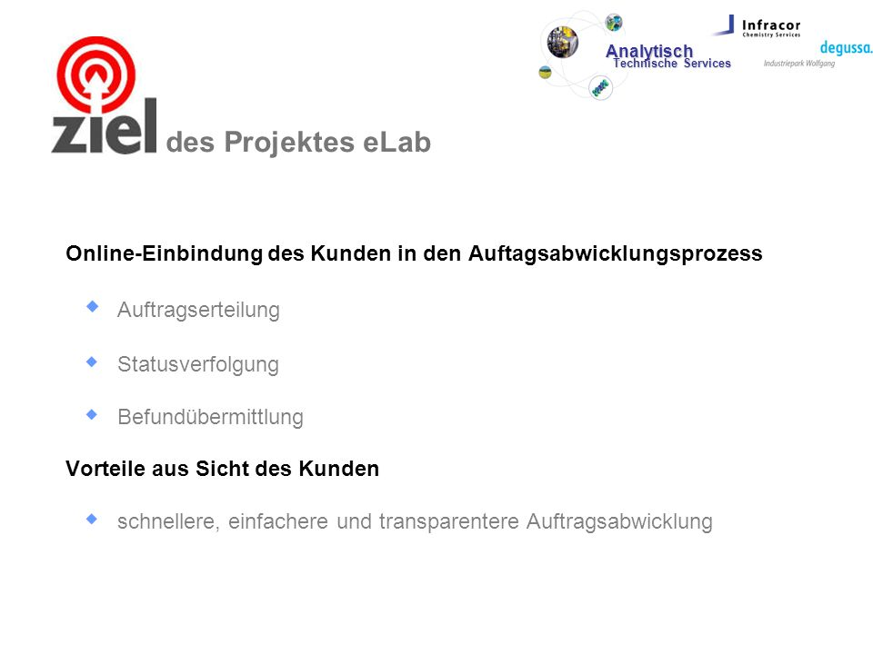 Ziele des Projektes eLab
