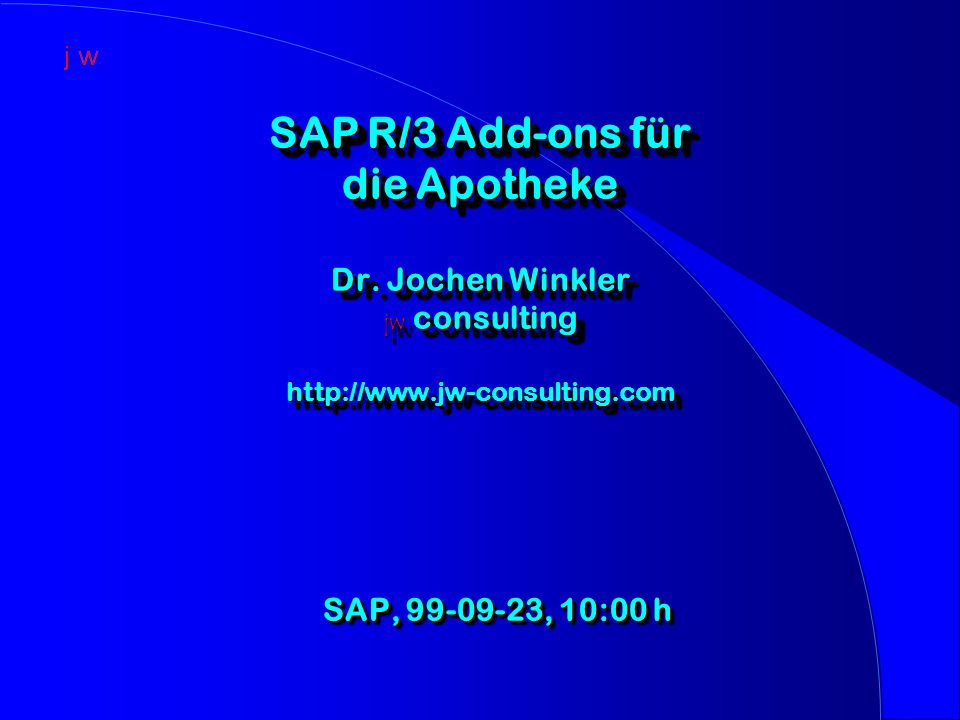 SAP R/3 Add-ons für die Apotheke Dr