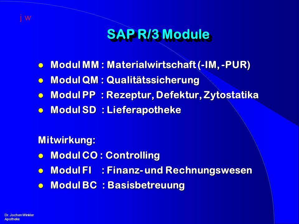 SAP R/3 Module Modul MM : Materialwirtschaft (-IM, -PUR)