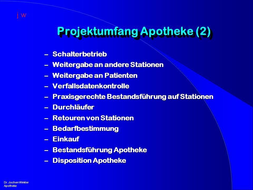 Projektumfang Apotheke (2)