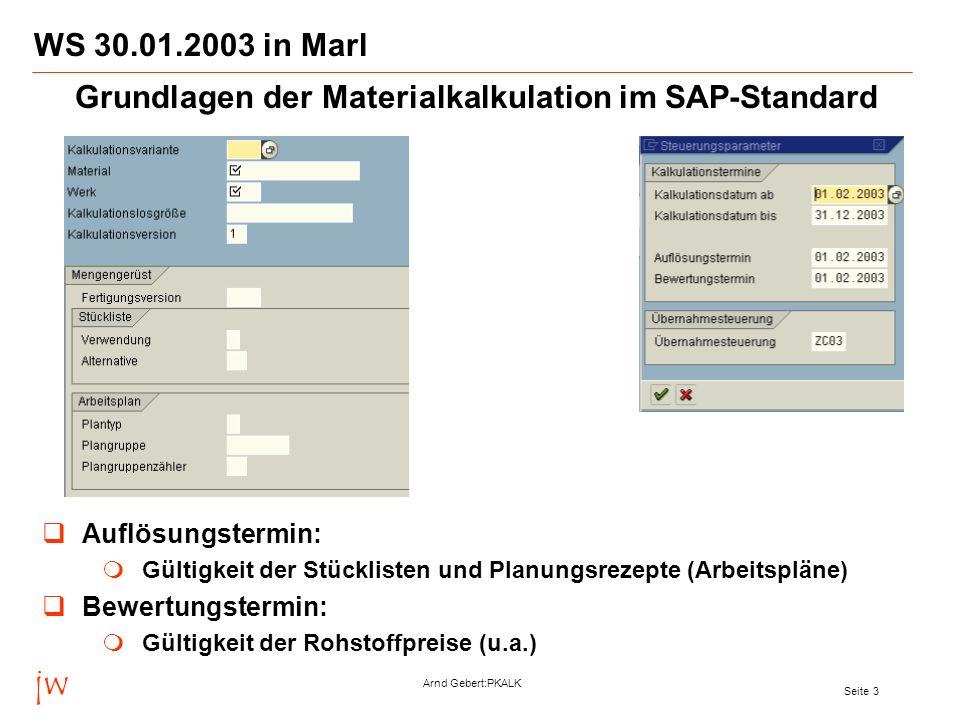 Grundlagen der Materialkalkulation im SAP-Standard