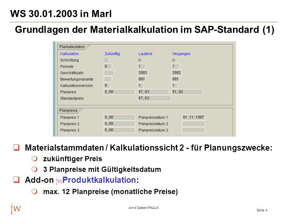Grundlagen der Materialkalkulation im SAP-Standard (1)