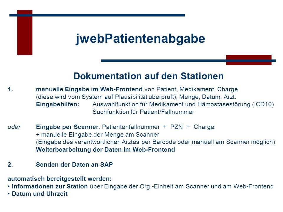 Dokumentation auf den Stationen
