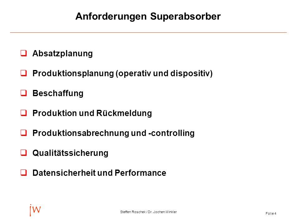 Anforderungen Superabsorber