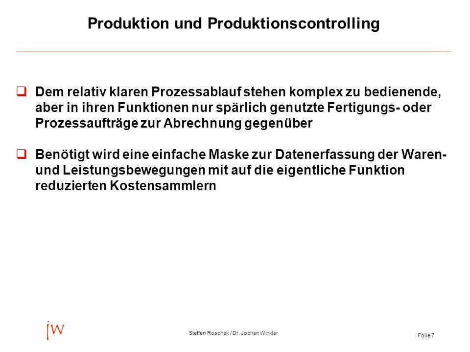 Produktion und Produktionscontrolling