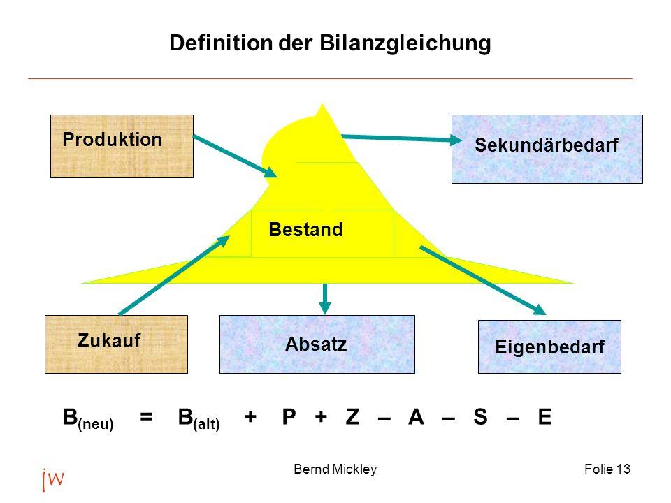 Definition der Bilanzgleichung