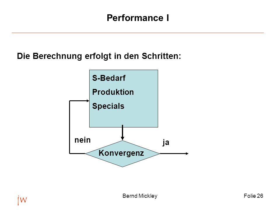 jw Performance I Die Berechnung erfolgt in den Schritten: S-Bedarf
