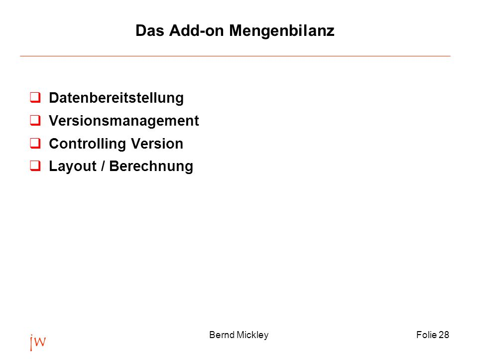 Das Add-on Mengenbilanz
