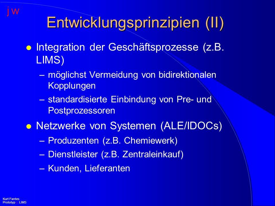 Entwicklungsprinzipien (II)