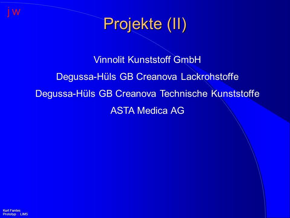 Projekte (II) Vinnolit Kunststoff GmbH