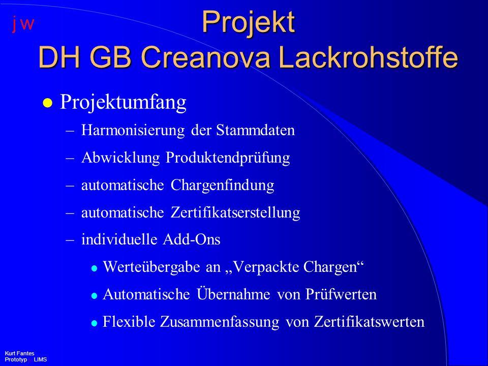 Projekt DH GB Creanova Lackrohstoffe