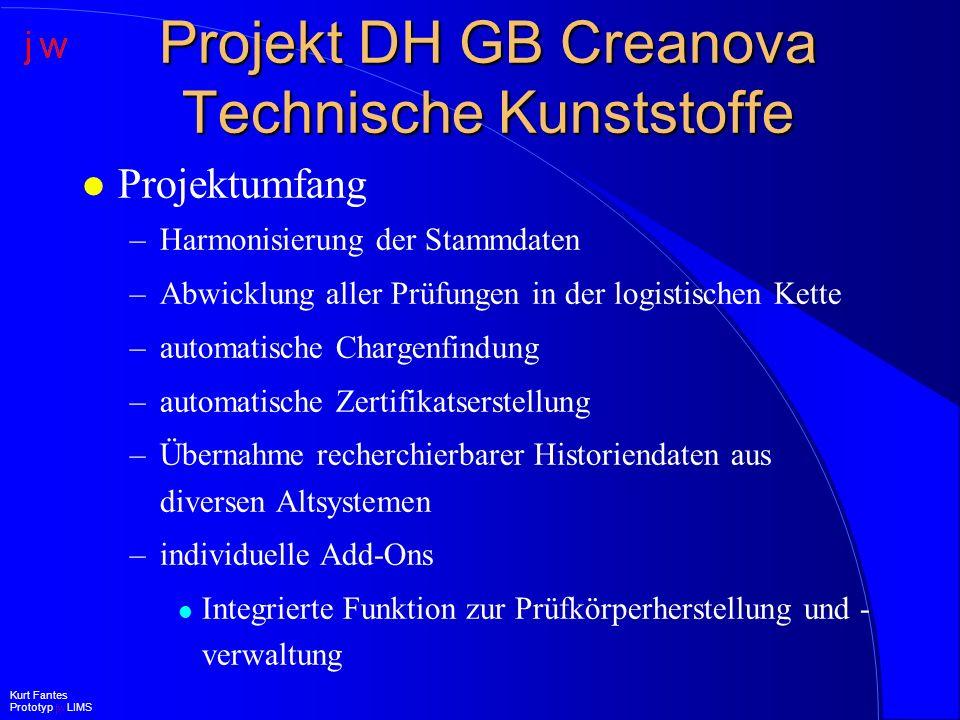 Projekt DH GB Creanova Technische Kunststoffe