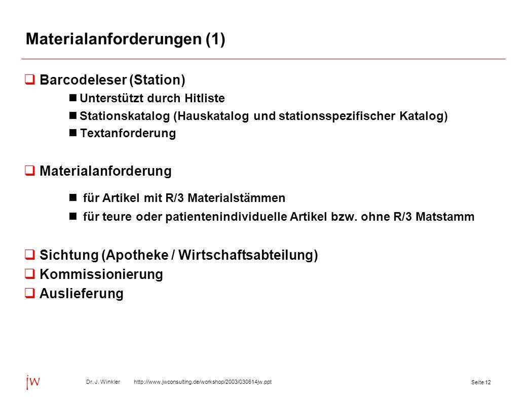 Materialanforderungen (1)