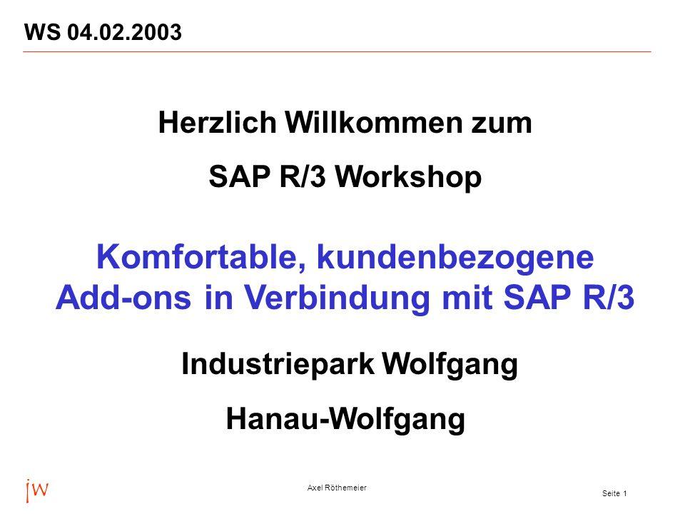 Komfortable, kundenbezogene Add-ons in Verbindung mit SAP R/3