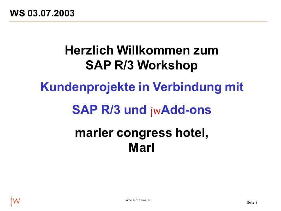 Herzlich Willkommen zum SAP R/3 Workshop